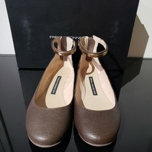 NIB French Connection brown ballet flats Size 7